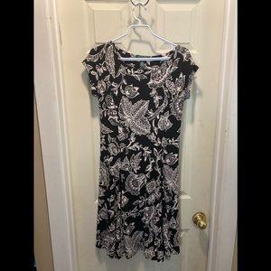 Ralph Lauren paisley floral dress medium